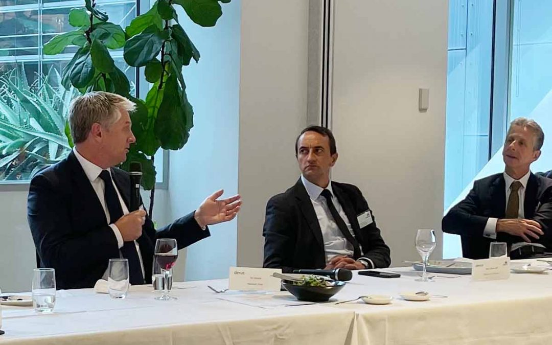 Boardroom lunch with Dave Sharma, Chair of the Joint Standing Committee on Treaties, and Chair of the Foreign Affairs and Aid Subcommittee and Ric Deverell, Chief Economist and Head of Macro Strategy, Macquarie Group